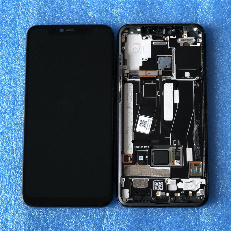 Original Axisinternational For Xiaomi Mi8 Pro MI 8 Pro In Screen Fingerprint AMOLED LCD Display Screen