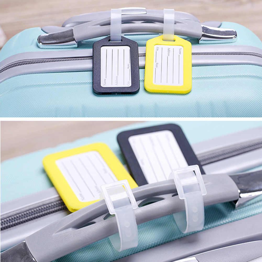 Reise Koffer Tasche Internat Tag Label Name ID Kunststoff Gepäck Tag Candy Farbe