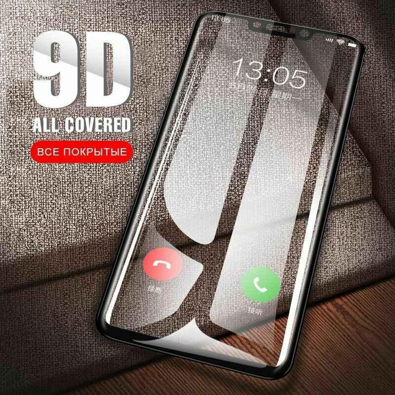 Vidro de proteção 9d, vidro de cobertura completa para huawei p smart 2019 y5 y6 2019, para huawei honor 8s 8a cobertura da tela 8c 8x 10i 20i