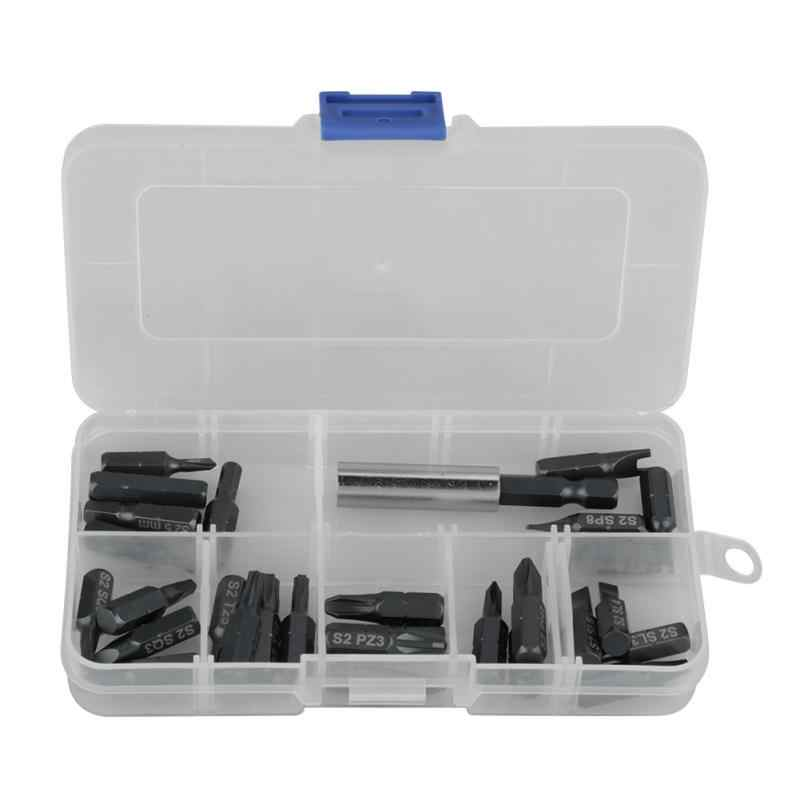 Hot 29pcs/set Magnetic Screwdriver Bits Set Extension Rod Holder Screwdrivers Bit Hand Repairing Tools