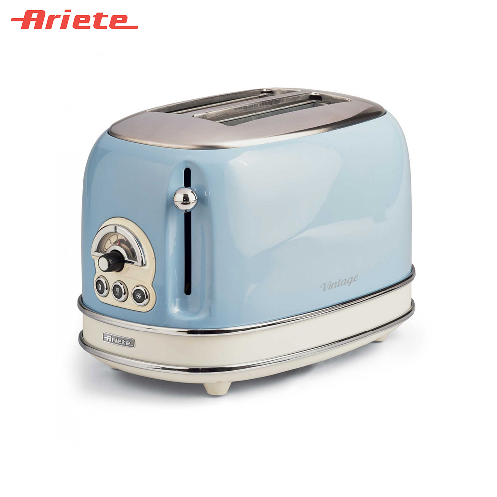 Toasters Ariete 8003705114920 Household Automatic Bread Toaster Baking Breakfast Machine Stainless steel 2 Slices Bread Maker