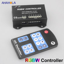DC 12v 24v RGB RGBW Controller Remote Control for Led Strip Led Remote Control 5050 RGBW Led Strip Controller(China)