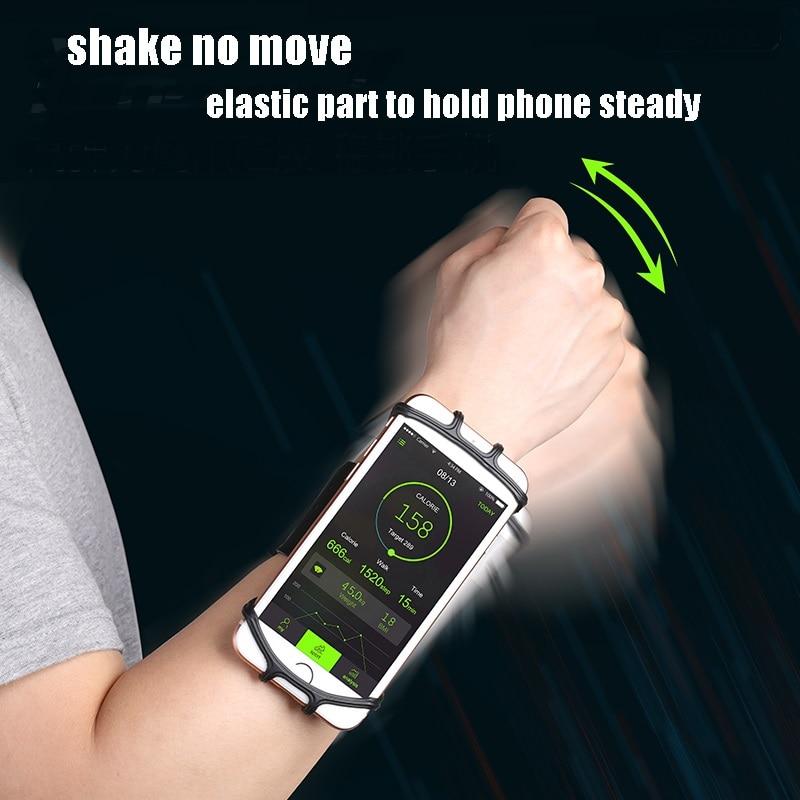 VNSTRIP Universal Lauf Armband Elastische Silikon Handgelenk band für telefon halter 4,5 zu 6,5 zoll 360 grad für Samsung