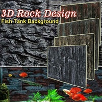 3D Foam Rock Reptile Stone Aquarium Background Backdrop Fish Tank Board Decor Underwater Aquarium Landscape Decoration