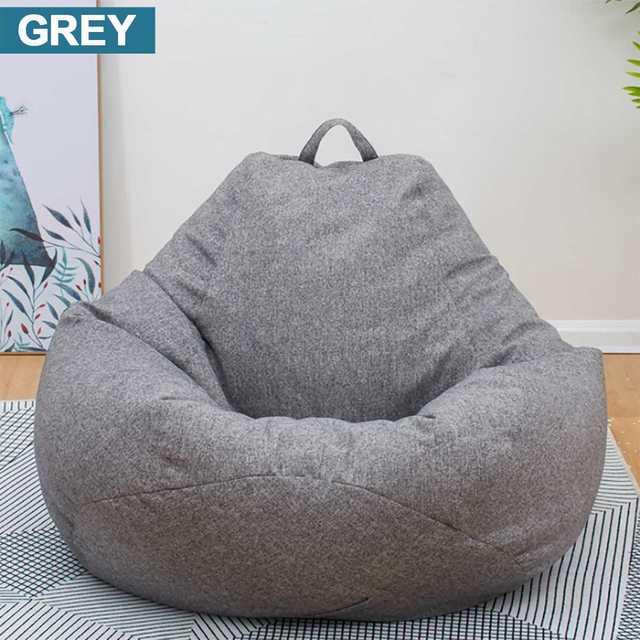 Grande Pequeno Preguiçoso BeanBag Sofás Cobrir Cadeiras sem Enchimento Pano de Linho Sopro Assento Do Saco De Feijão Pufe Espreguiçadeira Sofá Tatami Sala de Estar quarto