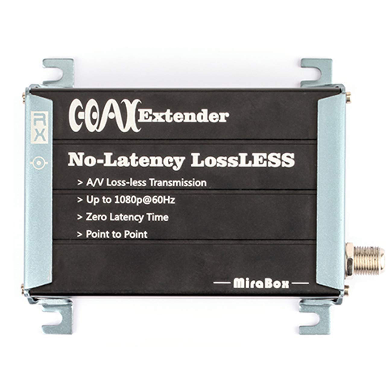 Mirabox Hdmi Coax Extender Receiver Over Single Rg59 Rg 6U Coaxial Cable With F Type Coaxial