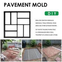 Garden Path Maker Mold Reusable Concrete Cement Stepping Sto