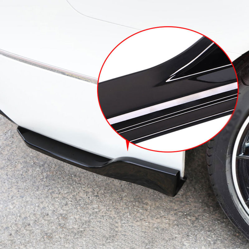 Fit For Honda/Accord 2018 2PCS Car Rear Bumper Skirt Spoiler Lip Side Wing Trim