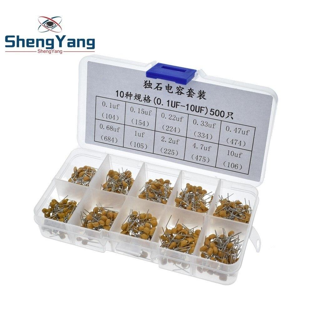 100x Tantalum Bead Capacitors 10 values 35V 50V 1uf~47uf Assortment Tool Kits