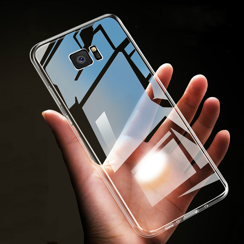 Clear Soft TPU Phone Cases For Samsung Galaxy S10 S9 S8 Plus S7 Edge Note 9 8 J4 J6 J8 A6 A8 2018 J3 J5 A3 A5 A7 2017 Cover Capa