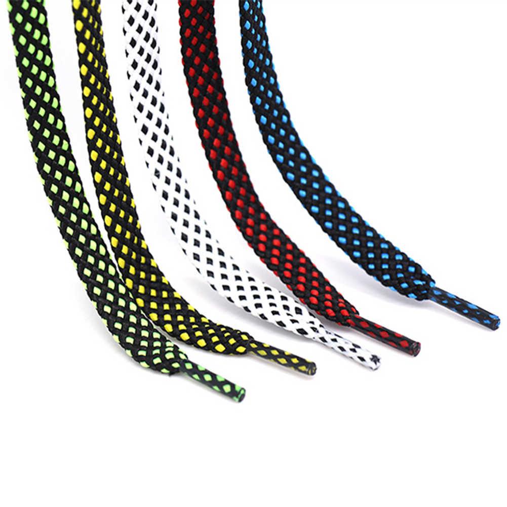 1 пара 100 см прочные двухцветные плоские шнурки для полукедов унисекс повседневные женские мужские ботинки со шнурками мотки веревки Cordones Zapato
