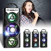 Wireless bluetooth LED Speaker Super Bass HIFI USB TF FM Radio Cool LED Light Outdoor Hippop Music Loudspeaker Christmas Gift