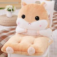 Adeeing Detachable One piece Hamster Back Cushion Cute Chair Pad Mat Pillow Hand Warmer Decoration Gift