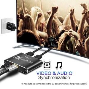 Image 2 - مقسم الوصلات البينية متعددة الوسائط وعالية الوضوح (HDMI) 2.0 4K @ 60Hz الجلاد 1X2 HDR 4K كامل HD فيديو HDMI إلى HDMI التبديل محول 1 في 2 خارج مكبر للصوت للتلفزيون DVD PS3 Xbox
