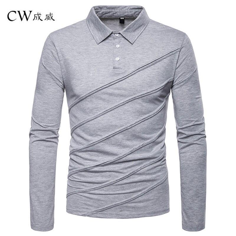 Polo   Shirt Men 2019 New Spring Button Brand Men   Polo   Shirt Long Sleeve Casual Male Shirt Dress   Polo   Shirts Plus Size S-2XL