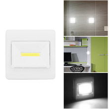 Lemonbest Magnetic LED Cabinet Light with Switch Wireless Wardrobe Nightlight Cupboard Closet Light for Bedroom Kitchen Lighting(China)