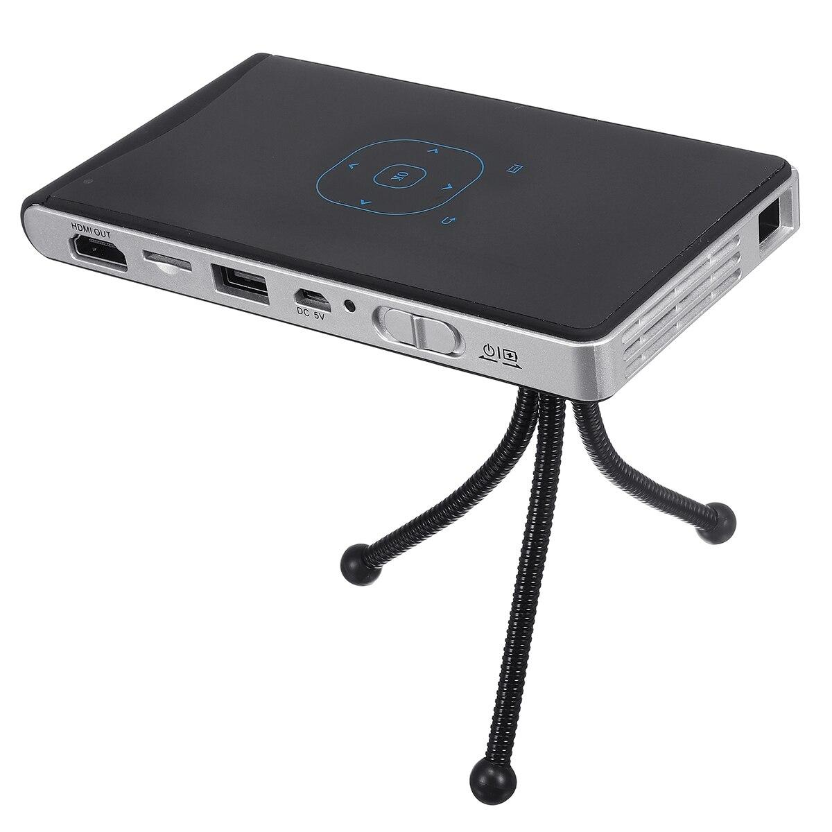 Портативный светодиодный проектор DLP1080p домашний кинотеатр Wifi четырехъядерный HD Android домашний офис видео оборудование путешествия Кемпинг