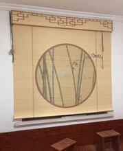 Japanese Natural bamboo roller blinds window roller blinds blackout roller blinds printed curtain shutter curtain vintage porch устройство умного дома fibaro roller shutter 2 fgr 222 ru