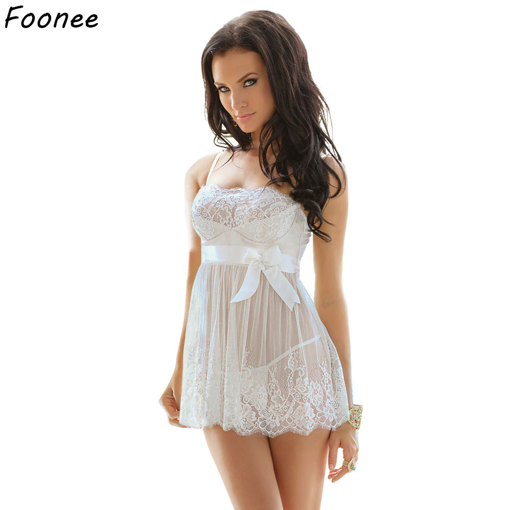 Sexy Women Erotic Plus Size Babydoll Dress Oversized Transparent Women Underwear Sexy Erotic White Lingerie For Sex 5XL