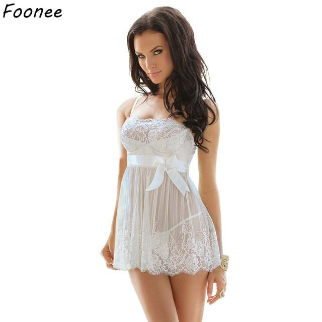 Sexy Women Erotic Plus Size Babydoll Dress Oversized Transparent Women Underwear Sexy Erotic White Lingerie For Sex 5XL