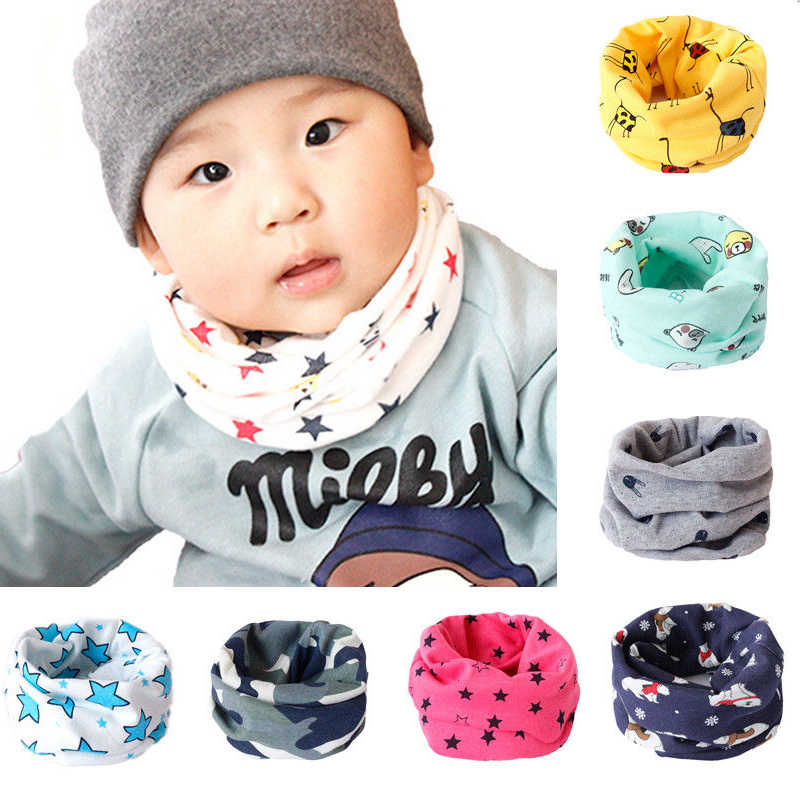 Kids Scarf Winter Soft Cotton Children s Neck Cover Warmer Snood Scarves 36b2d794bb4a