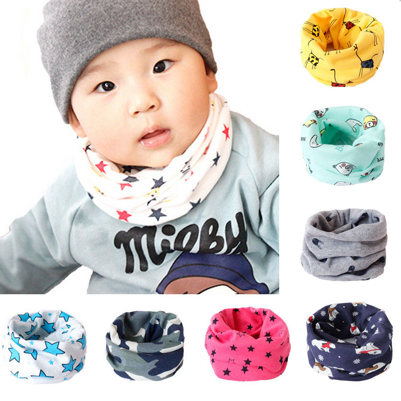 Kids Scarf  Winter Soft Cotton Children's Neck Cover Warmer Snood Scarves