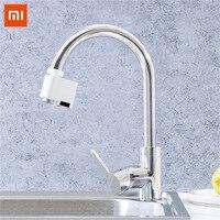 Xiaomi автоматический сенсор Инфракрасный индукции устройство для экономии воды раковина кран для кухня ванная комната регулируемый водный д...