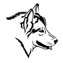 12.4*13.2CM Wolf Dog Vinyl Decal Creative Car Stickers Styling Truck Motorcycle Accessories