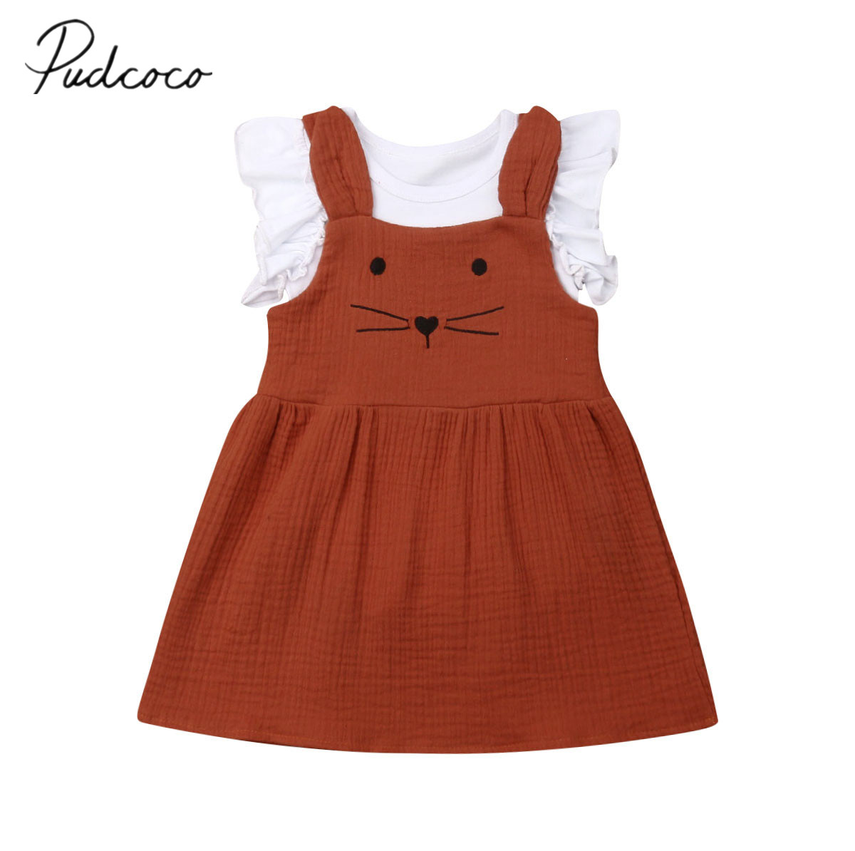 fa4937e2455f1 2019 Baby Summer Clothing 0-24M Newborn Infant Baby Girls Clothes Sets  Ruffle Romper Tops