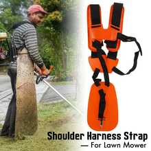 Orange Lawn Mower Shoulder Strap for Strap Grass String Trimmer Brush Cutter Belt Lawn mower Shoulder Harness Strap(China)