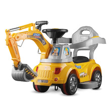 Children's Electric Excavator Digging Ride on Toys Kids Electric Excavator Riding Four wheels Engineering Vehicle Car цена 2017