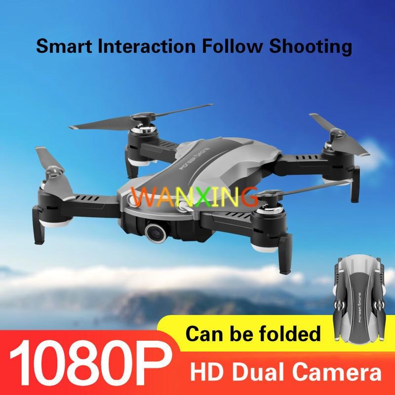 Drone pliable HD double caméra Smart suivre le positionnement du flux optique quatre axes télécommande avion Robo jouet électrique
