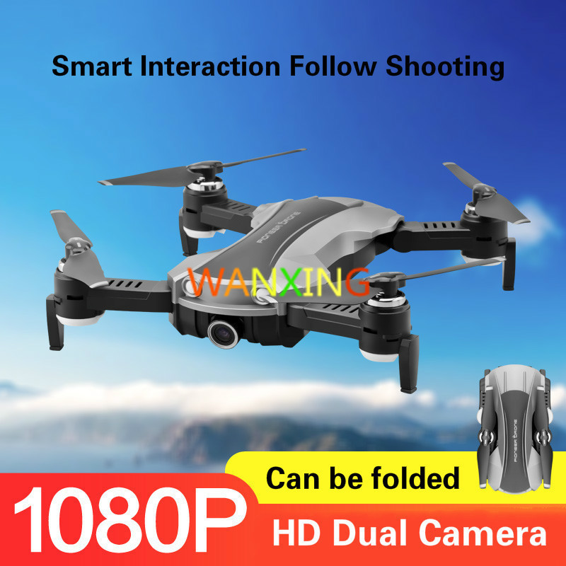Foldable Drone HD Dual Camera Smart Follow Optical Flow Positioning Four-axis Remote Control Aircraft Robo Electric Toy