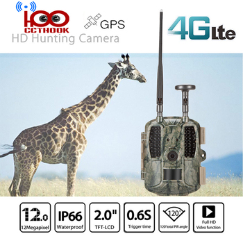 4G FDD-LTE GPS Hunting Trail Camera Sending Original 5MP Pictures & 30s 1080P HD Video Via SMTP and FTP with APP Waterproof IP66 1