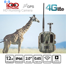 4G FDD-LTE GPS Hunting Trail Camera Sending Original 5MP Pictures & 30s 1080P HD Video Via SMTP and FTP with APP Waterproof IP66