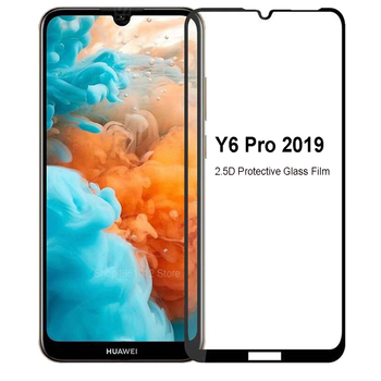 For Huawei Y6 pro 2019 Screen Protective Tempered Glass on huawey y6 2019 Full Cover Display Protector Glass on huaweii y6pro 9H image