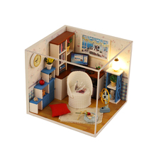 Cute DIY House Mini Delicate Adorable Kit Miniature Crafting Handmade Model Room Lovely Model Educational Toy Wooden House