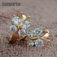 Женские серьги обруч бабочка cristal детские boucle oreille