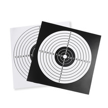 100 PCS Target Paper Paintball Target Posters Square Shooting Practice Paper Hunting Shooting Target Sheet 14X14CM Bow & Arrow(China)