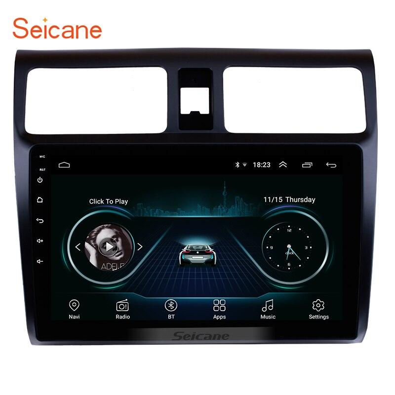 """Lecteur multimédia de Navigation GPS stéréo de voiture Seicane pour 2005 2006 2007 2008 2009 2010 Suzuki Swift 10.1 """"unité de tête Android 8.1"""