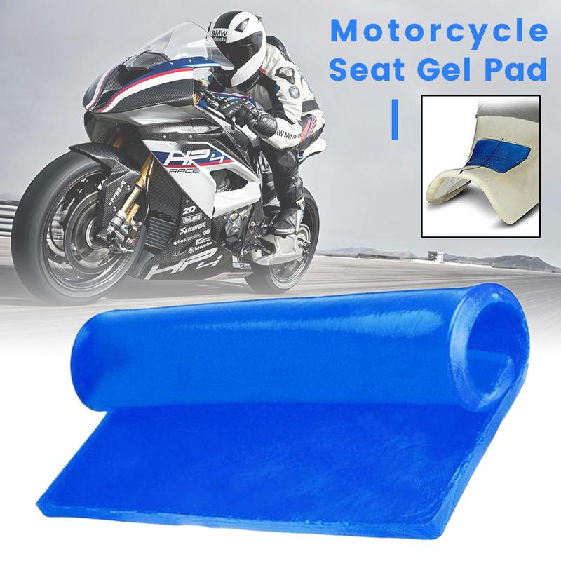1PC Motorcycle Seat Gel Pad Ice Absorption Cushion Motorbike Scooter Comfortable Soft Gel Mat Motor Bike Modified Seat Pad Blue