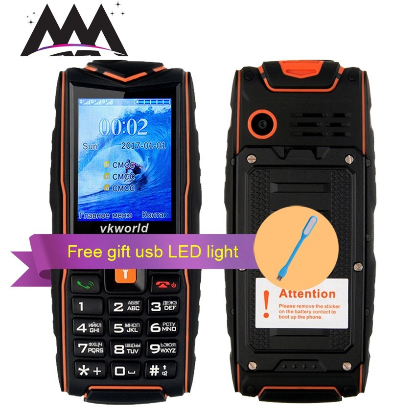 VKworld NEW V3 IP68 Russian keyboard waterproof shockproof Mobile phone 3000mAh battery FM flashlight 3 sim outdoor cell phones image