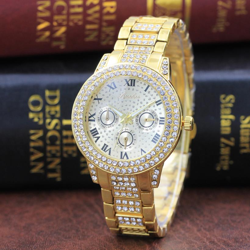 Metal Bracelet Quartz Women Gold Watch Stainless Steel Band Crystal Watch top brand luxury ladies clock relogio feminino 2019Metal Bracelet Quartz Women Gold Watch Stainless Steel Band Crystal Watch top brand luxury ladies clock relogio feminino 2019