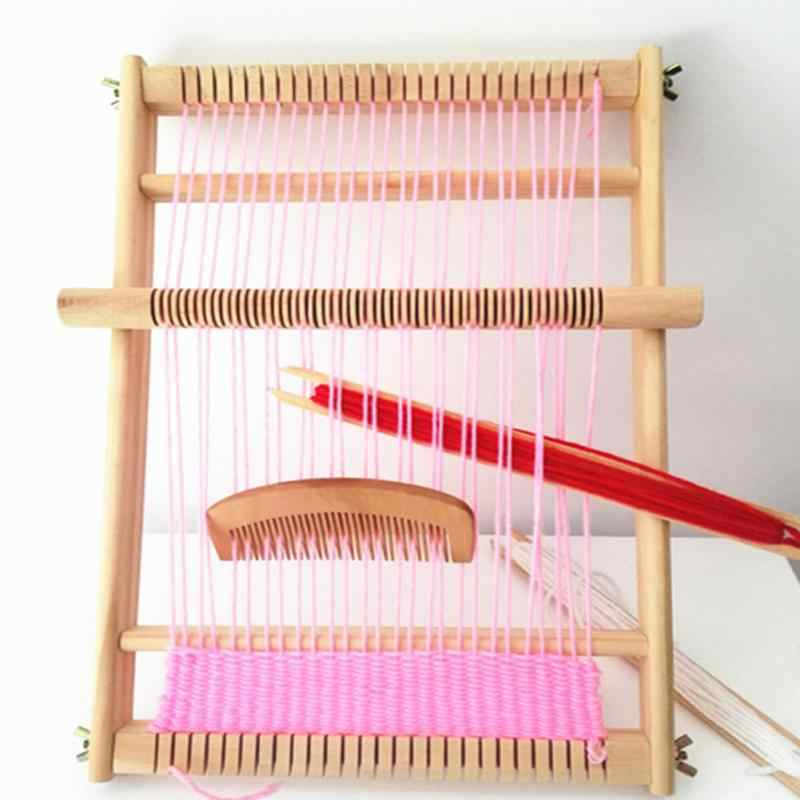 DIY Craft Needlework Scarf Hand Knitting Machine Weaving Loom Stitching Tool For Scrafs Hats Kids Educational Learning Craft Toy