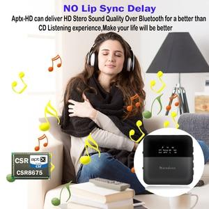 Image 2 - 2 em 1 sem fio bluetooth 5.0 música áudio transmissor receptor mini 3.5mm aux aptx hd baixa latência óptica auto no adaptador para tv