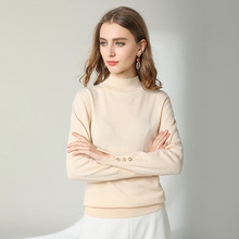 2019 Spring New arrival o-neck pullover High Quality 50%wool Rendering All-match sweater women spring 1909 цены онлайн