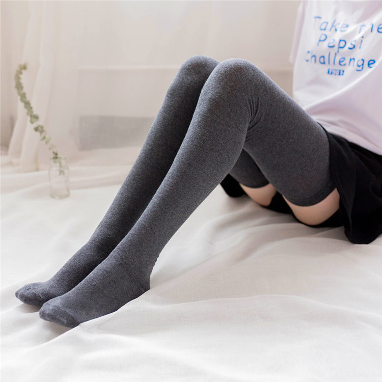 0162f6af0c1 Detail Feedback Questions about Cotton Thigh Socks Lengthening 80cm High  Socks Autumn Women Socks Japanese Stockings Retro Student Thigh Over Knee  Socks on ...
