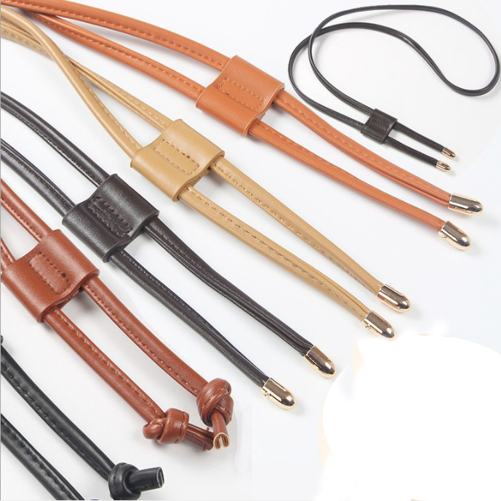 Fashion Women Detachable PU Leather Bag Strap Belt Bucket Bags Drawstring Bunches Belt Backpack Beam Belts Bag Accessories