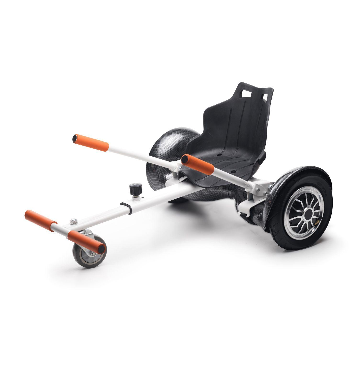 Zeeclo H3C + KC, KIT Hoverboard 10 ''convertisseur Carbono + Kart, haut-parleur, Altavoz, LEDS, Infantil, Adultos, Morado