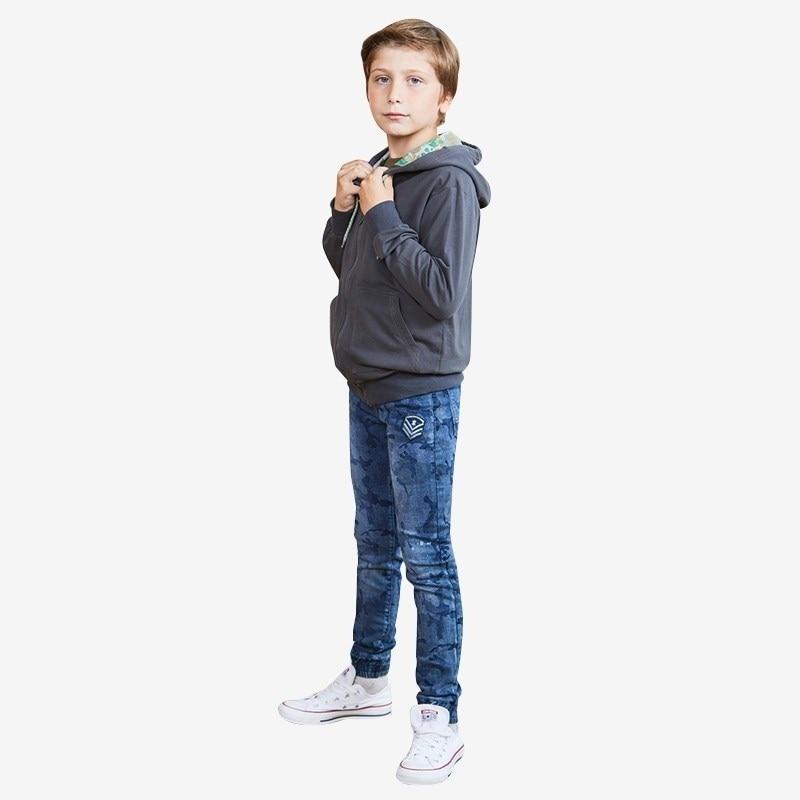 Jeans Luminoso Denim pants for boys children clothing kid clothes raw hem ripped denim jeans